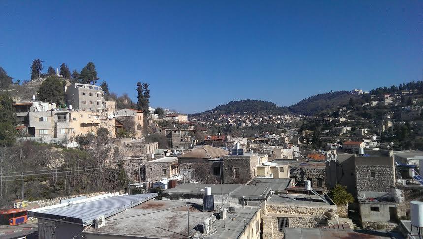 תצפית לעיר צפת: צילום - עיתון חדש בגליל.