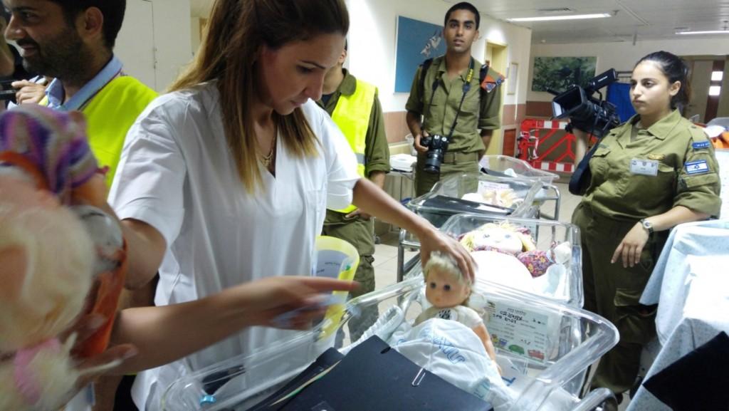 פינוי מחלקת יולדות וילודים- המרכז הרפואי זיו-תרגיל מלחמה