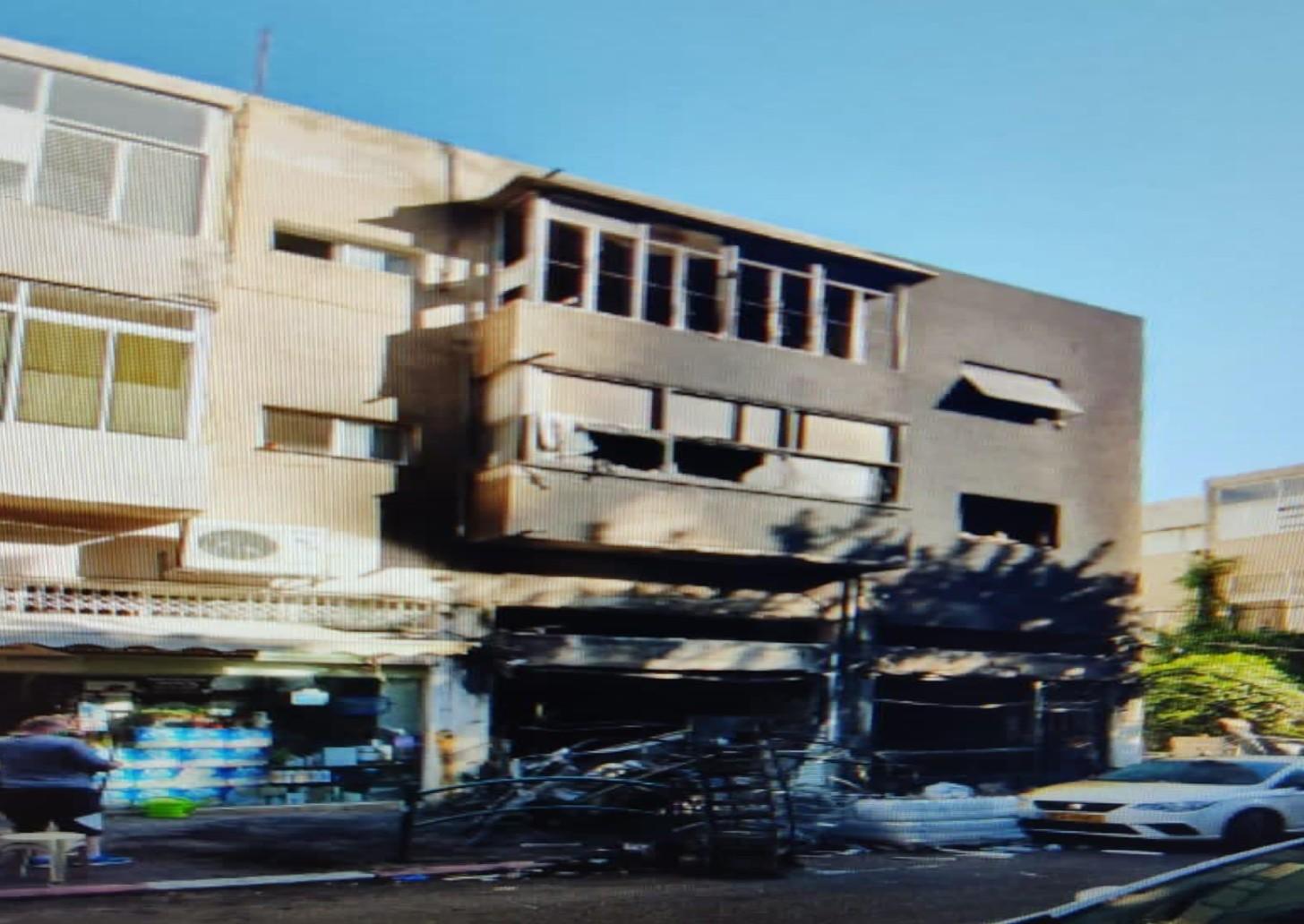 עסק שרוף בחיפה