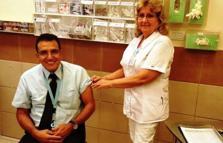 """הכן גופך לחורף: במרכז הרפואי """"זיו"""" בצפת ממליצים להתחסן כנגד שפעת"""