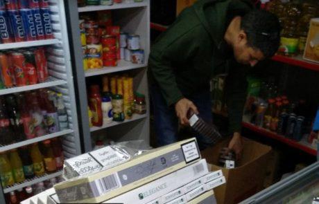 אלפי סיגריות מוברחות נתפסו בגולן במבצע משותף של המכס והמשטרה