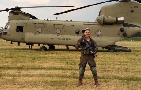 עומר ברקוביץ' מכרכום השתתף בתרגיל משותף לצנחנים ולחטיבה אמריקאית
