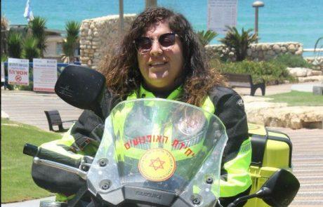 """האופנוענית של מד""""א שמצילה חיים – אסאלה עבוד מגוש חלב"""