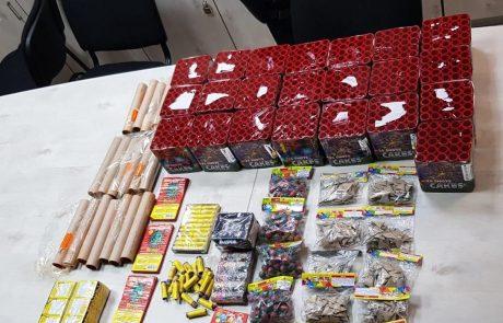 במשטרה נערכים לאירועי פורים – בצפת נתפסו מאות נפצים וחזיזים