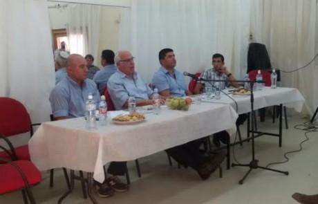 שר החקלאות אורי אריאל ביקר ביסוד המעלה ונפגש עם ראש המועצה והחקלאים המקומיים