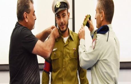 """גם לאחר שנכשל בפעם הראשונה בקורס קצינים לא וויתר סג""""מ סירחאן עד שהגשים את חלומו"""