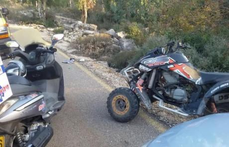 פצוע קשה ופצוע קל בתאונת טרקטורון במירון