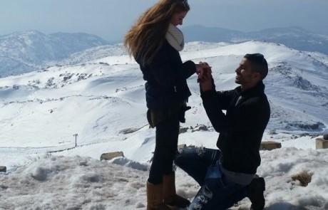הצעת נישואין בגובה 2000 מטר – צעיר מצפת הפתיע את חברתו