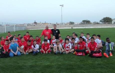 טוב שכן טוב: פרויקט משותף לילדי בית הספר לכדורגל בקיבוץ כפר הנשיא לילדי טובא-זנגריה