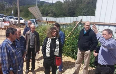 מלה שוורץ, ראשת מינהל פיתוח ותשתיות ברשות המים סיירה במתקני הביוב של פלג הגליל