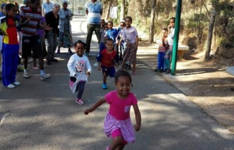 יום ספורט משותף לילדי העולים עם בית הספר הרב תחומי בצפת