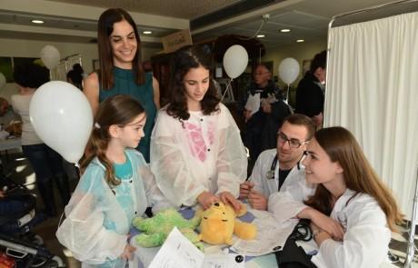 בית החולים לדובים בצפת שבר את שיא המשתתפים – מעל 800 ילדים והורים