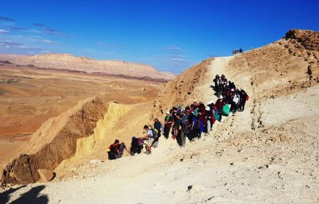 """מאות מדריכי של""""ח מצפת ומהגליל השתתפו במסע חינוכי בנגב"""
