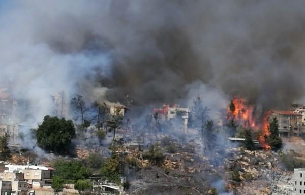 חלק מתושבי שכונת כנען בצפת שבתיהם נפגעו בשריפת הענק בקיץ, שבו לביתם