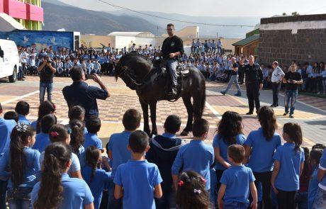 לראשונה מאז קום המדינה: יום קהילה משטרה נערך בכפר עג'ר על גבול לבנון