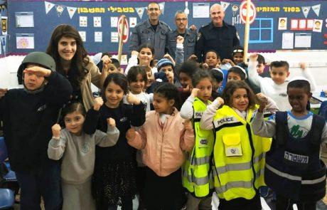 בבתי הספר בצפת מתלהבים משיתוף הפעולה הקהילתי של המשטרה עם התלמידים