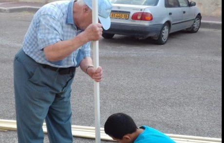 סוכה קהילתית בצפת: תעמוד לרשות הדיירים בדוד אלעזר – יוזמה של עמידר