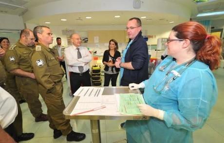 אלוף פיקוד העורף ביקר במרכז הרפואי לגליל והתרשם מההיערכות לחירום