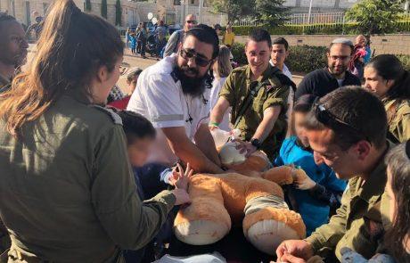 שיתוף פעולה בין פיקוד הצפון לילדים לבית החולים לדובים בפקולטה לרפואה בצפת