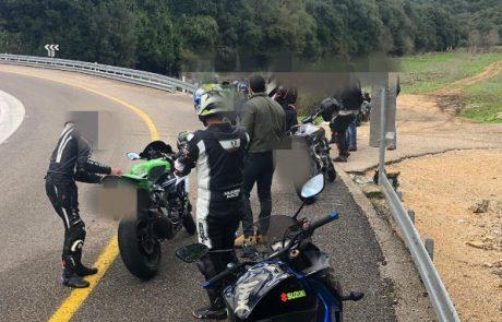 מבצע מצולם של המשטרה הביא ללכידת אופנועים באזור בירנית