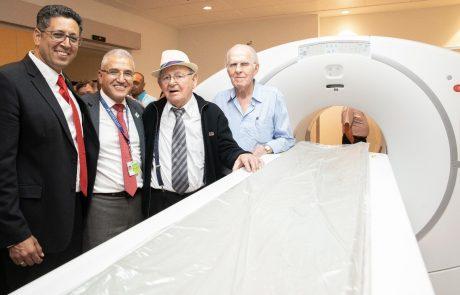 """דויד קליין ניצול שואה בן 91 תרם להקמת מכון ה- Pet CT הראשון בצפון – נחנך בטקס במרכז הרפואי """"זיו"""" בצפת"""