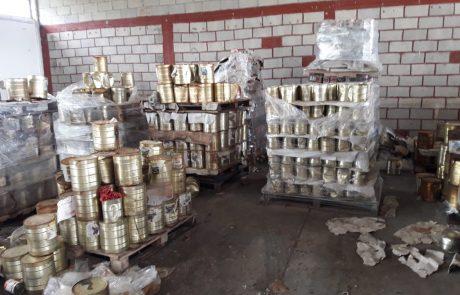 בחצור הוחרמו 12 טון של קופסאות שימורים שאינם ראויים למאכל