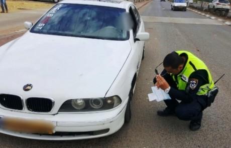 נהג צעיר אך לא זהיר: נכשל בטסט ונעצר בעת שלמד נהיגה אצל החבר