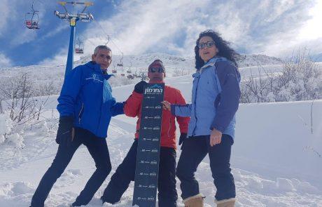 כמויות שלג אדירות ומזג אוויר נוח בפתיחה הרשמית של אתר החרמון