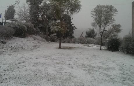בירושלים מחכים – בצפת מקבלים: שלג יורד בצפת ובמרום הגליל – הלימודים נדחו לשעה 10:00