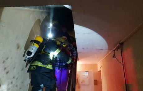 שריפה בבניין מגורים בצפת – חולצו לכודים
