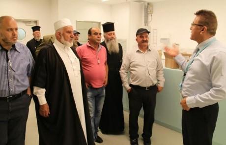 """ביוזמת האגף לעדות דתיות התארחו כחמישים אנשי דת במרכז הרפואי """"זיו"""" בצפת"""