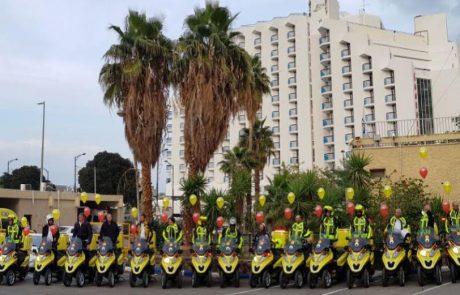 """14 אופנועי עזרה חדשים יוצמדו למתנדבי מד""""א בטבריה, צפת וק""""ש – 30 אופנועים פועלים במרחב ירדן"""
