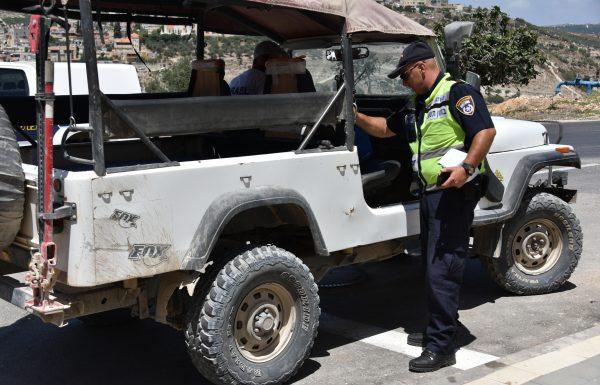 """מבצע """"בין הזמנים"""" של משטרת צפת: ב – 8 ג'יפים נמצאו ליקויים קשים"""