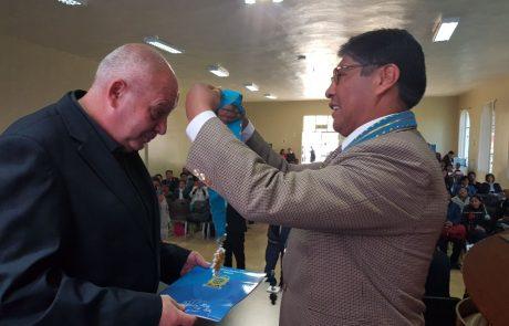 """ללו וילנסקי מנכ""""ל פארק דלתון קיבל תואר של אזרח כבוד בפרו דרום אמריקה"""