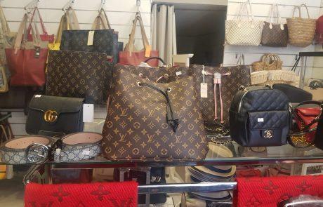 תיקי אופנה יוקרתיים מזוייפים נתפסו בחנות בצפת