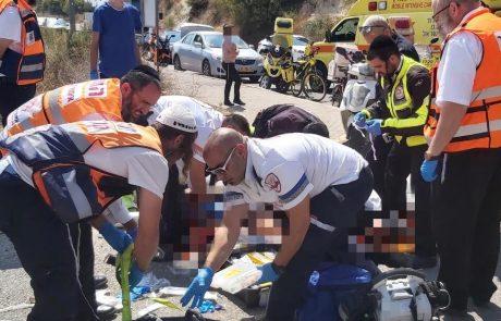 פצועים בתאונת דרכים קשה בצפת