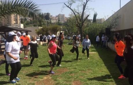 """יום הבריאות הבינלאומי צוין במרכז הרפואי """"זיו"""" בצפת בהפנינג ספורטיבי ענק"""