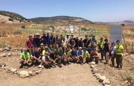 צבא ההגנה לטבע: חיילי גדוד הסיור של גולני הכשירו וניקו את האתר הארכיאולוגי בחורבת מרות