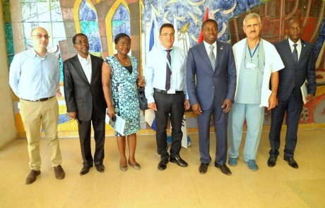 """משרד החוץ – סניף צפת: שגרירי האום ונשיא טוגו ביקרו במרכז הרפואי """"זיו"""""""