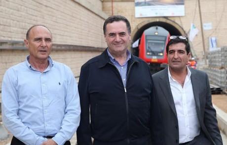 השר כץ חנך את נסיעת המבחן הראשונה של רכבת כרמיאל-תל אביב