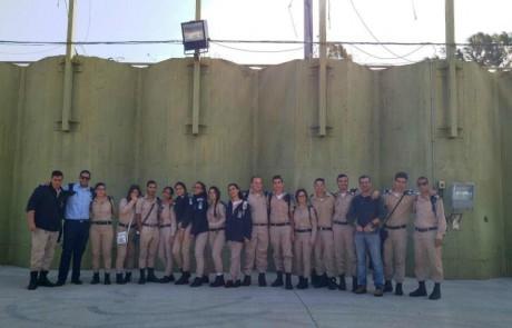 פלדה כחולה:  שוחרי אורט חצור הגלילית ביקרו בבסיס חיל האוויר