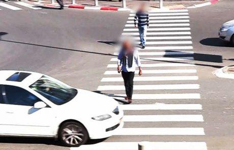 אכיפת התנועה המוגברת בצפת נמשכת: קנסות על אי מתן זכות קדימה להולכי רגל