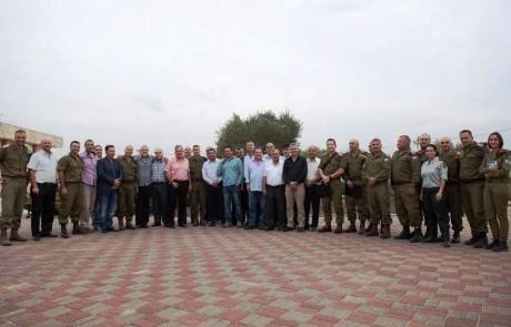 בכנס ראשי רשויות שנערך בבסיס בירנית בגבול הצפון קיבלו ראשי הרשויות סקירה על הביטחון השוטף