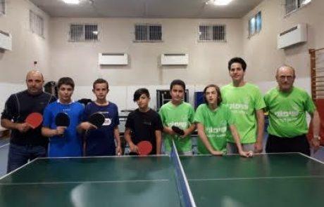 קבוצת הנוער של הפועל צפת בטניס שולחן העפילה לראשונה בתולדותיה לליגה הלאומית