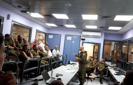 נציגי מבואות החרמון השתתפו בתרגיל סימולטור לשעת חירום בפיקוד העורף