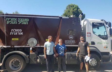 הישג סביבתי לקיבוצי הגליל העליון – 87.4 טון פסולת במהלך אוגוסט