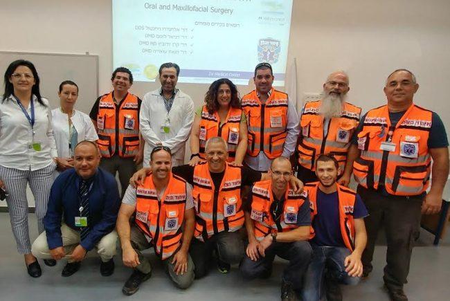 השתלמות מיוחדת בפציעות למתנדבי איחוד הצלה במרכז הרפואי זיו בצפת