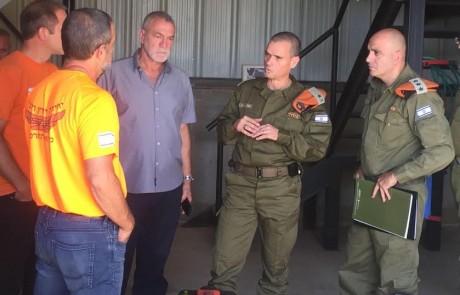 מפקד פיקוד העורף ביקר במועצה אזורית מבואות חרמון